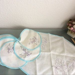 Linen Napkins Set Embroidered